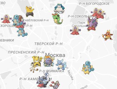 Карта покемонов — онлайн сервисы для Pokemon GO