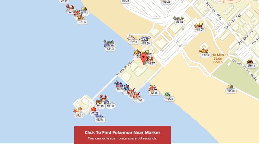 онлайн карта покемонов Pokevision