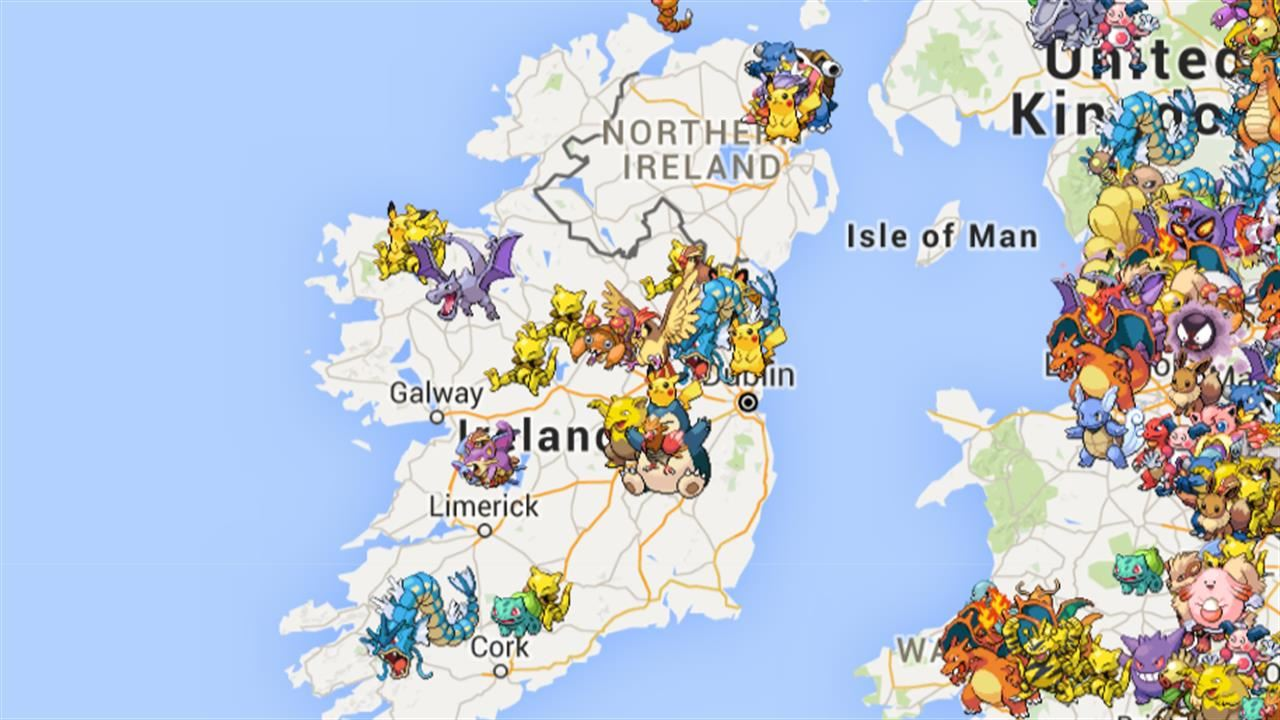 PokeRadar - поиск по онлайн картам