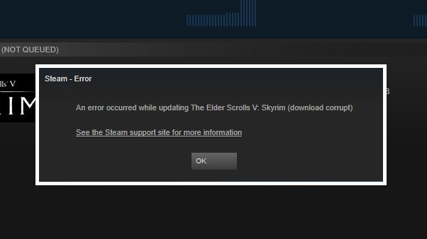 An error occurred while updating steam