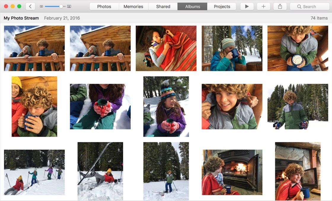 Мой фотопоток на MAC