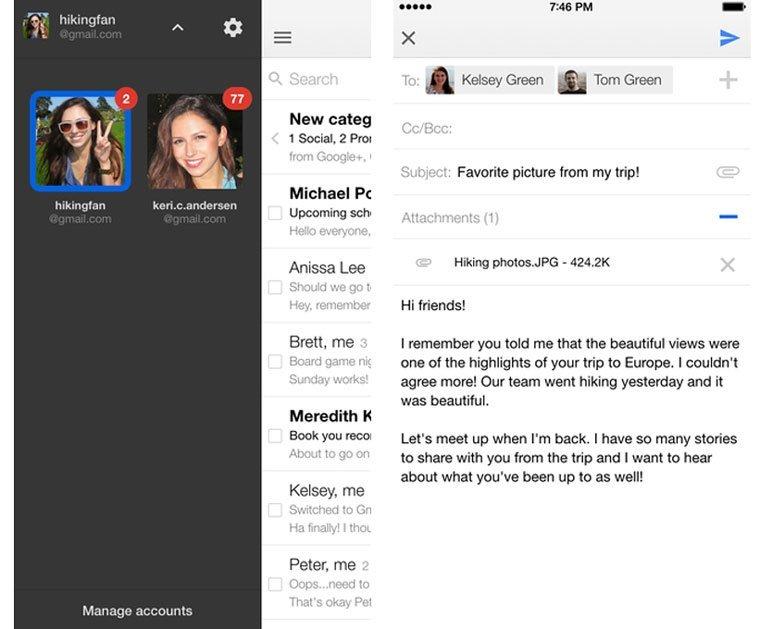 Приложение почты Gmail