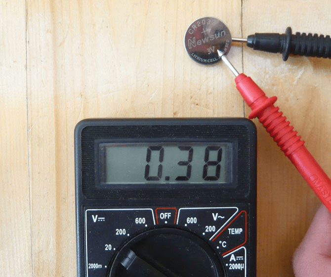 Проверка батарейки на предмет работоспособности
