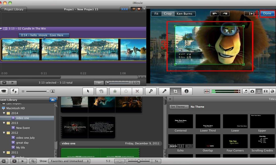 iMovie начало работы