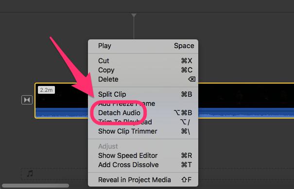 Работа с аудиофайлами в iMovie