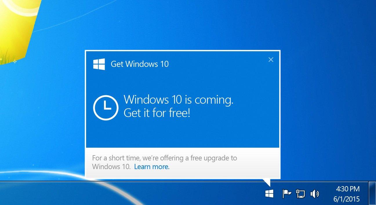 Обновить с Windows 7 до Windows 10