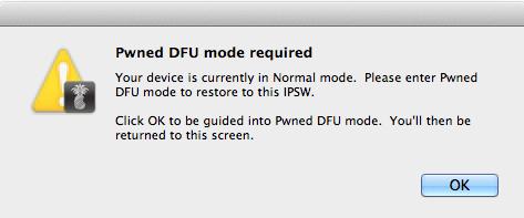 Просьба включить DFU Mode