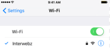 Содержимое вкладки Wi-Fi