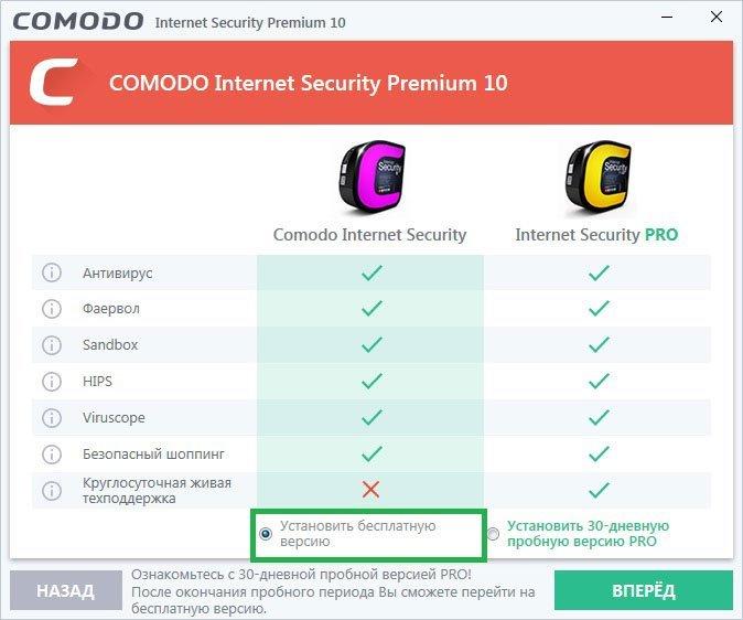 Различия версий Comodo