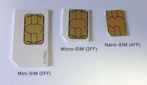 SIM-карты разных форматов