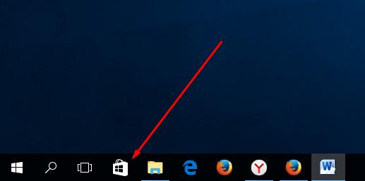 Иконка Windows Store в «Панели задач»