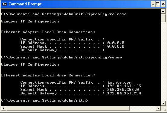 Ручной запрос на получение IP