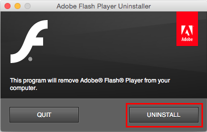Программа «Uninstaller Flash Player»