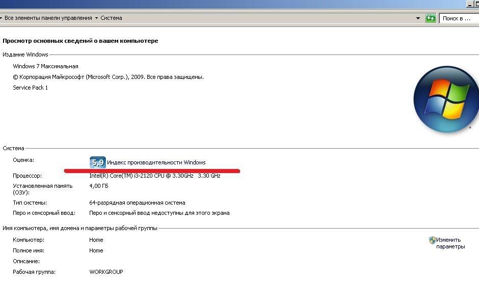Индекс производительности Windows