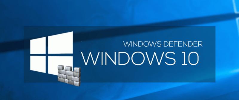 Отключение защитника Windows 10