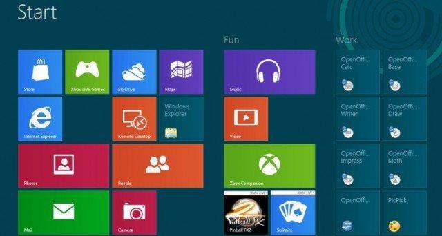 Новый интерфейс Windows 8