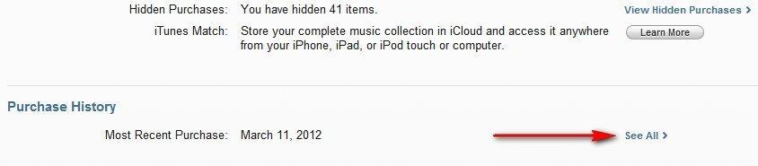 История покупок в App Store