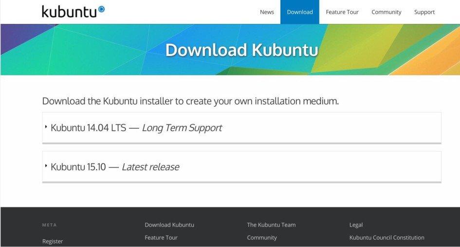 Загрузка Kubuntu с сайта