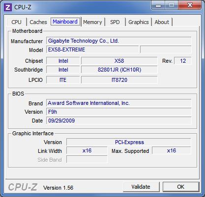 Вкладка «Mainboard» в утилите CPU-Z