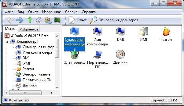 Информация о компьютере в AIDA64