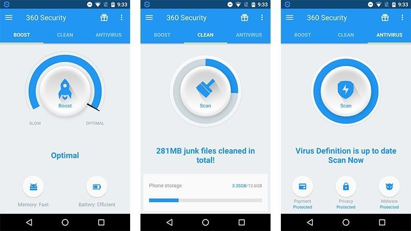 Сканирование с помощью 360 Security