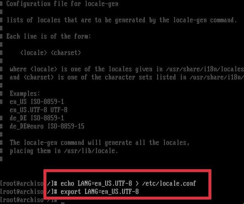 Настройка региона Arch Linux