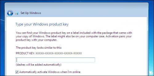 Запрос лицензионного ключа Windows 7