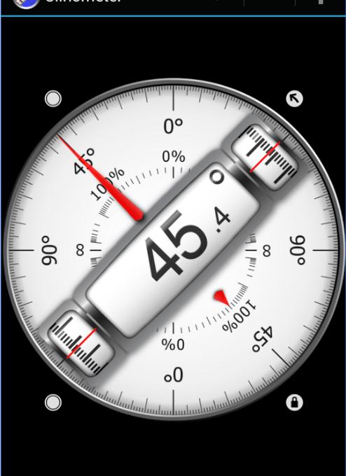 Интерфейс программы Clinometer