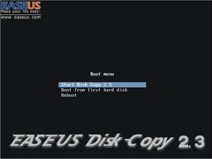 Интерфейс EASEUS Disk Copy
