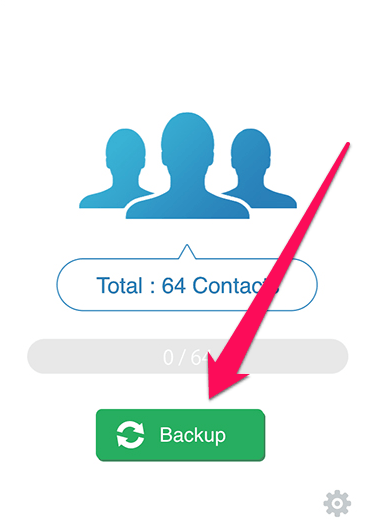 Экспорт с помощью My Contacts Backup