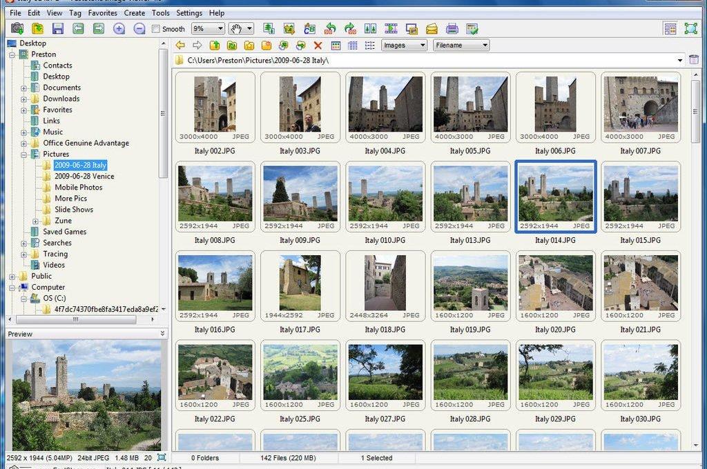 Интерфейс FastStone ImageViewer