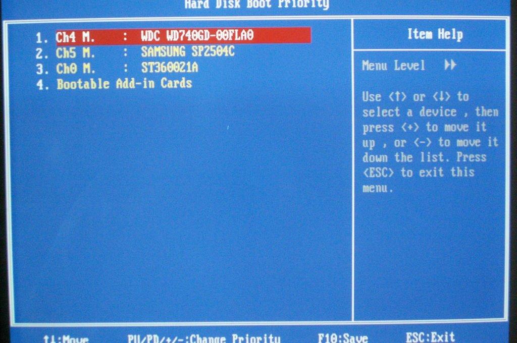 Функция загрузки со встраиваемых плат расширения в Award BIOS