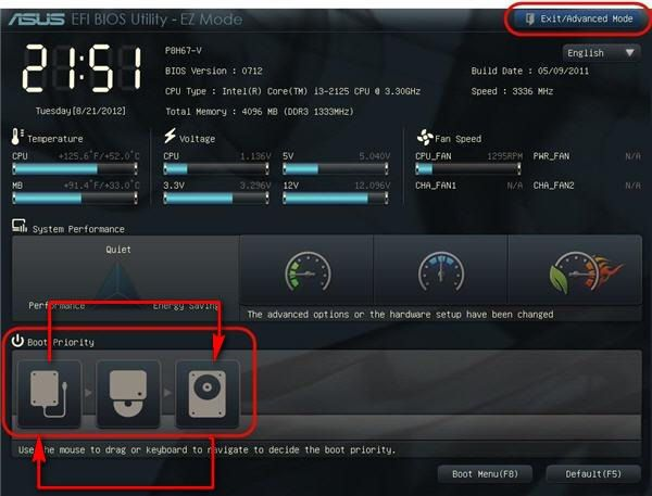 Настройка загрузки с внешнего диска в UEFI