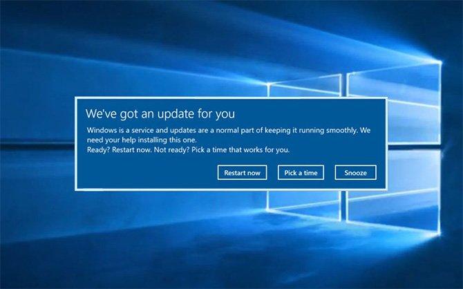 Обновление системы Windows 10