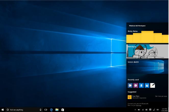 Панель рисования в Windows 10 с обновлением 1607