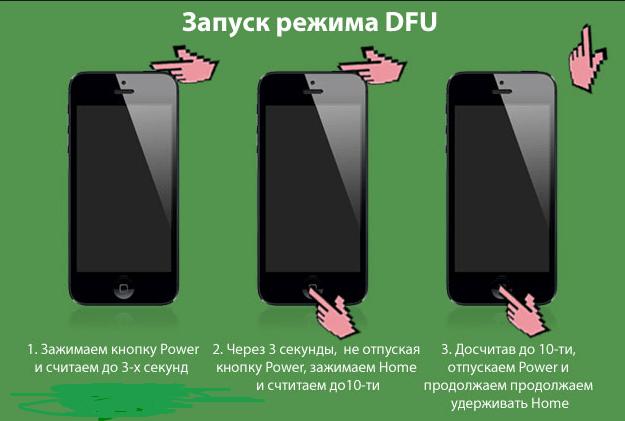 Переход в режим DFU