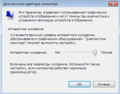 Диагностика адаптера монитора