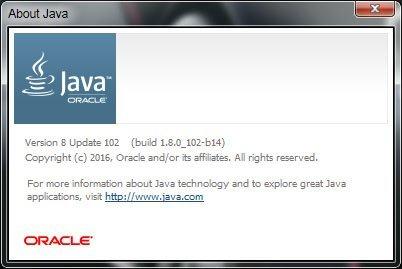 Результат вызова «About Java»