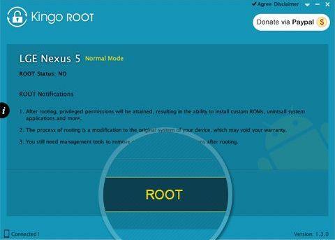 Получение root-прав в Kingo Root