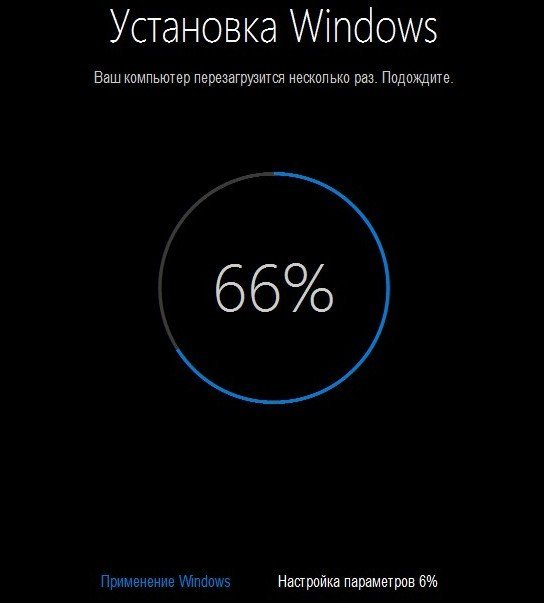 66% установки Windows 10