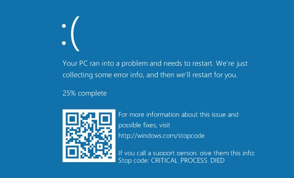 «Синий экран смерти» в Windows 10