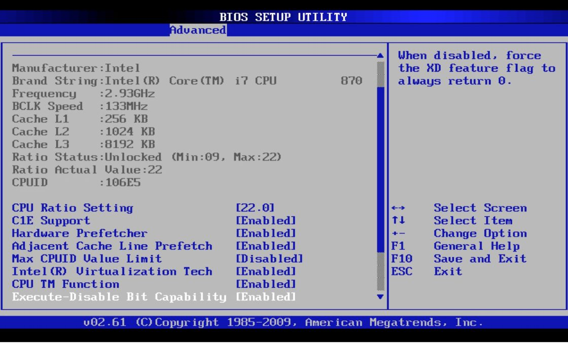 Интерфейс BIOS