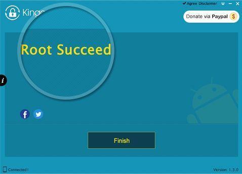 Успешное получение root-прав в Kingo Root