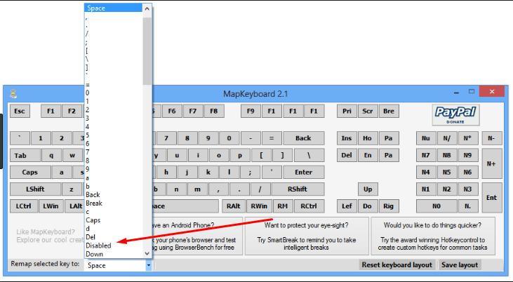 Отключение кнопки в MapKeyboard