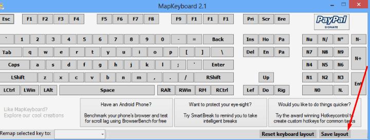 Сохранение изменений в MapKeyboard