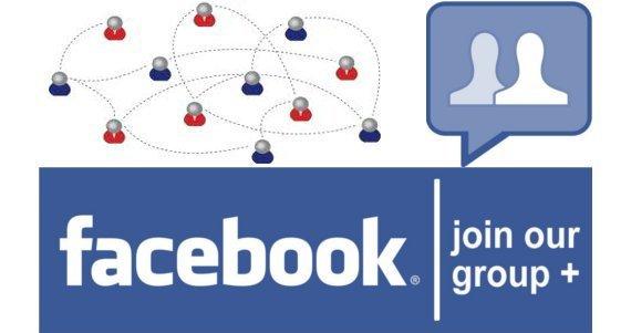 Логотип Facebook, добавление группы