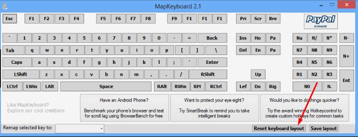Отмена изменений в MapKeyboard