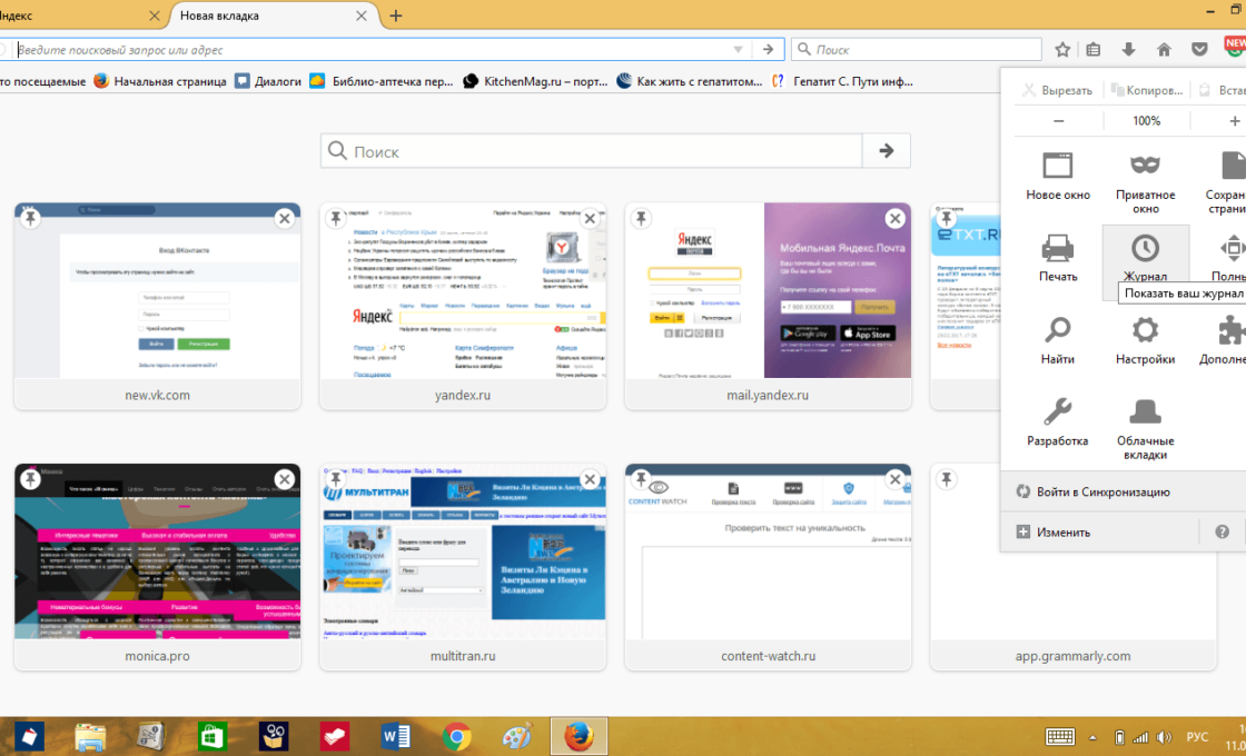 Параметры браузера Mozilla Firefox