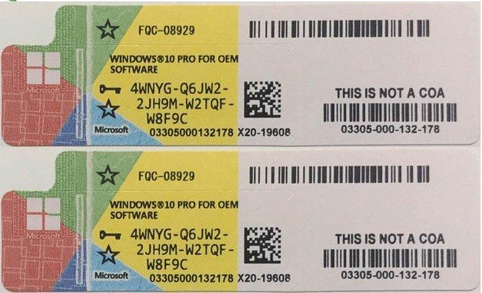 Официальные стикеры лицензии Windows 10