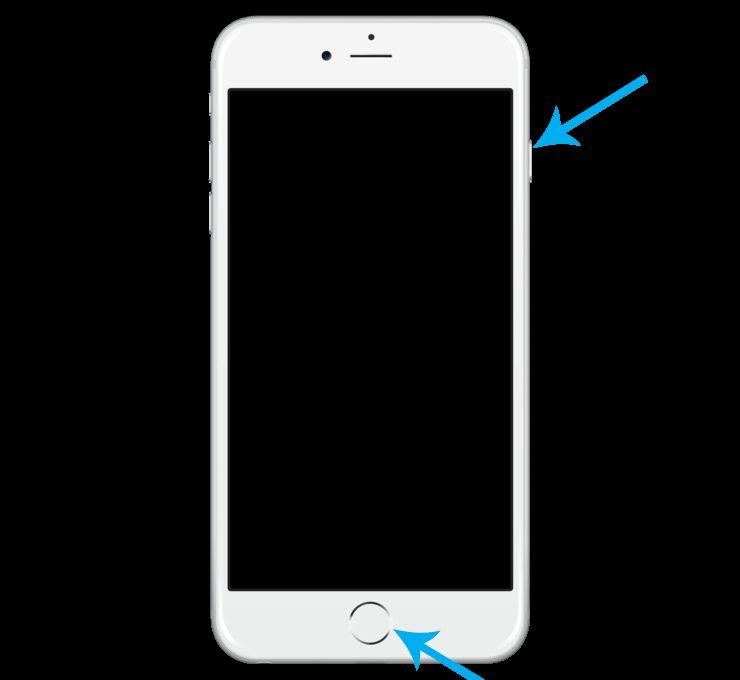 Схема зажатых кнопок IPhone